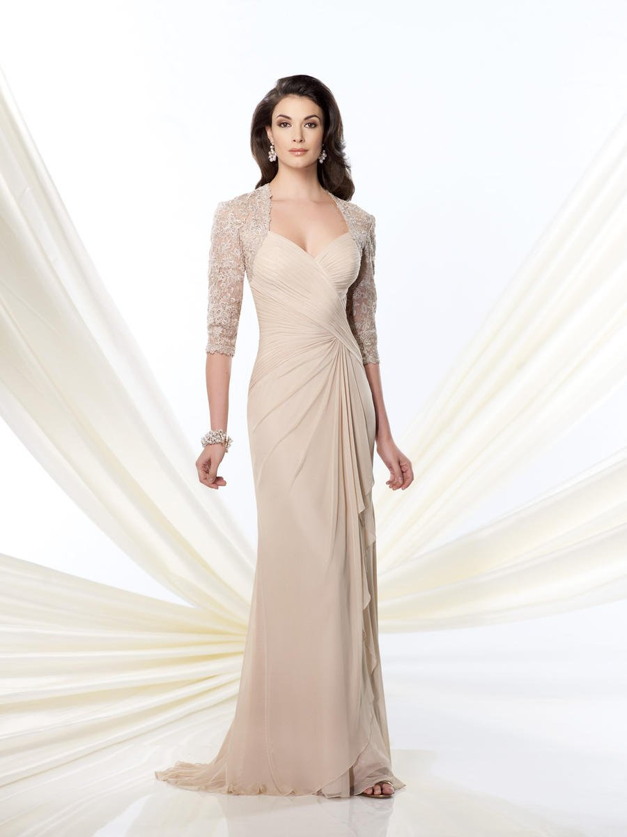 #E623 Ruched Mother of the Bride Formal Dresses