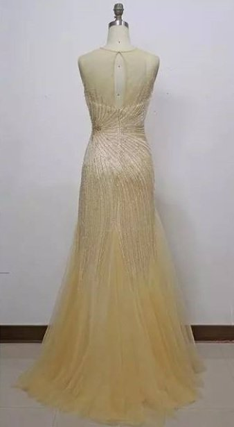 Style JL15514 - Gold Evening Gowns
