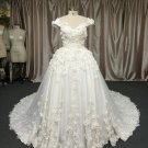 ALS-466 - Cap sleeve plus size bridal gowns with flowers from Darius Cordell