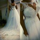 Style #0bd3 - Cap sleeve plus size wedding dresses
