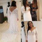 Style #1c8e - long sleeve plus size lace wedding dresses