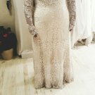 Style #3cfd - Long sleeve embroidered plus size wedding gown