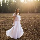 #8e97 - two piece plus size wedding dresses -