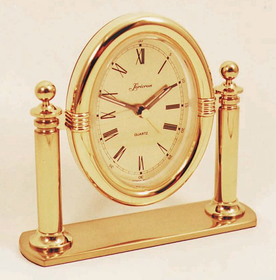 Brass alarm tabletop clock OL-316