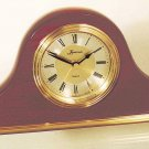 Mahogany and brass tambour tabletop clock OL-360