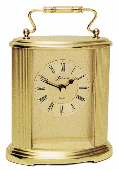 Solid brass and glass tabletop clock OL-1515-1