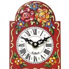 Hand-painted red mini wall clock OL-830R
