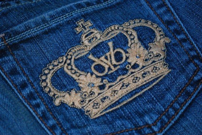 Victoria Beckham by ROCK & REPUBLIC LA Apricot Crown 70's wash jeans 25