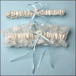 Garter - Angelica - Ivory  set  includes toss garter