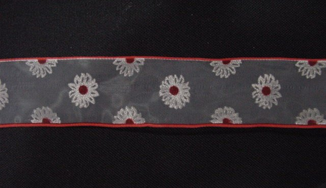 Ribbon Flower red