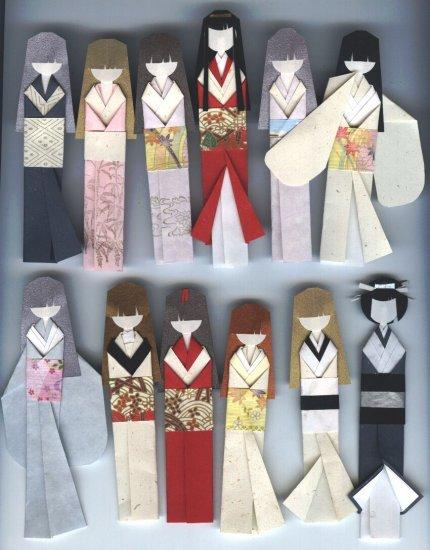 How to make a paper Kimono - Origami kimono - Fold Kimono dress ... | 550x430