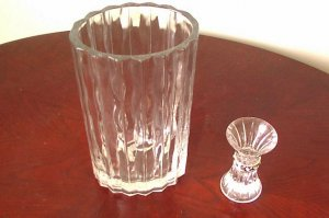 Crystal Vase and Candle Holder