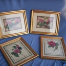 Set of 4 Floral  Prints