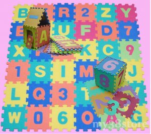 EVA Alphabet & Number Interlocking Puzzle Foam Mat 6""