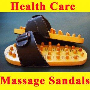 Reflexology Wooden Massage Sandals *Size L* Ship to Worldwide