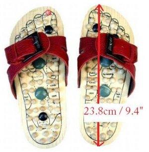 Reflexology Wooden Massage Sandals Shoes Slippers *EU38*