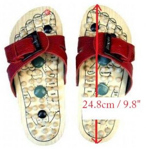 Reflexology Wooden Massage Sandals Shoes Slippers *EU40*