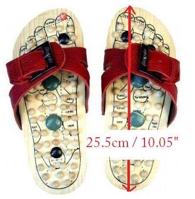 Reflexology Wooden Massage Sandals Shoes Slippers *EU42*