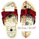 Reflexology Wooden Massage Sandals Shoes Slippers *EU44*