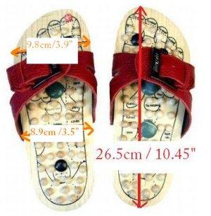 Reflexology Wooden Massage Sandals Shoes Slippers *EU44*