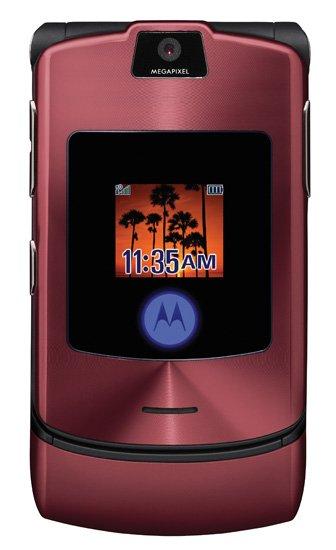 Motorola V3i RAZR 1.3 MegaPixel Cell Phone GSM  Maroon