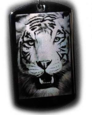 White Tiger Custom Pendant With Free Engraved Message