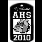 High School Graduation Custom Engraved Dog Tag Pendant