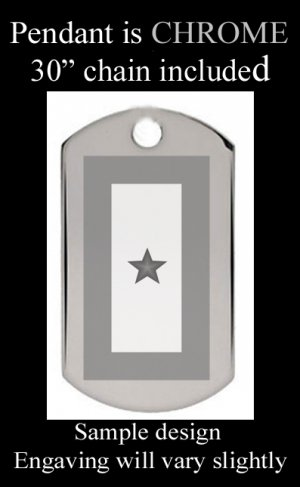 BLUE STAR MOTHERS Single Star With Custom Engraved Message