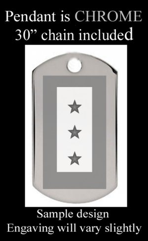 BLUE STAR MOTHERS Three Star With Custom Engraved Message
