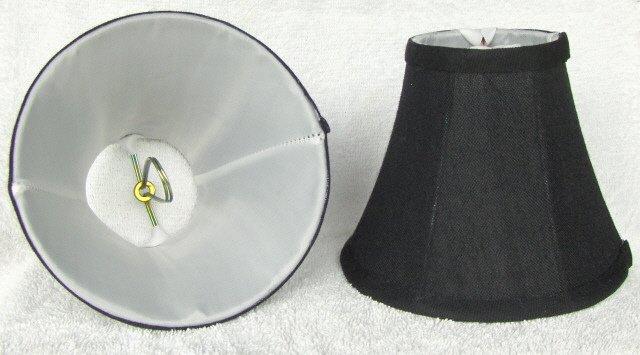 BLACK TEXTURED Mini Chandelier Lamp Shade