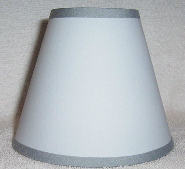 GREY- LIGHT BLUE Paper Mini Chandelier Lamp Shade