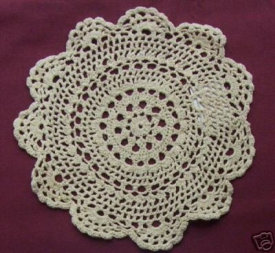 "New 10"" Medallion Design Ecru 100% Cotton Doilies"