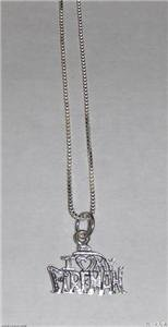 Sterling Silver Talking Necklace - I LUV MY FIREMAN