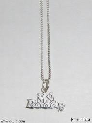 Sterling Silver Talking Necklace - MY BUDDY