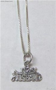 Sterling Silver Talking Necklace - I LUV MY HUSBAND