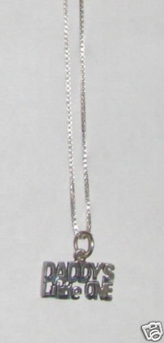 Sterling Silver Talking Necklace - DADDYS LITTLE ONE