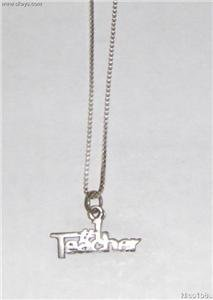 Sterling Silver Talking Necklace - # 1 TEACHER