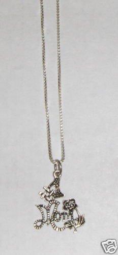Sterling Silver Talking Necklace - # 1 MOM w/Flower