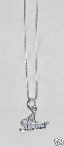 Sterling Silver Talking Necklace - # 1 SISTER