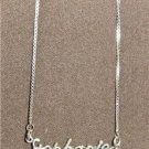 Sterling Silver Name Necklace - Name Plate - STEPHANIE