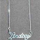 Sterling Silver Name Necklace - Name Plate - LINDSEY