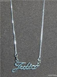Sterling Silver Name Necklace - Name Plate - JULIA