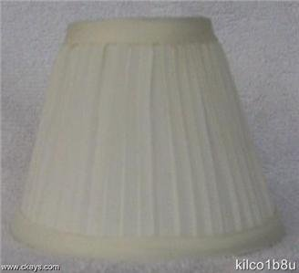 New IVORY Pleated Mini Chandelier Lamp Shade