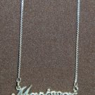 Sterling Silver Name Necklace - Name Plate - MARISSA