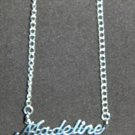Sterling Silver Name Necklace - Name Plate - MADELINE