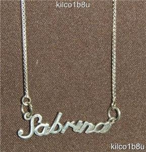 Sterling Silver Name Necklace - Name Plate - SABRINA