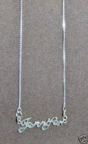Sterling Silver Name Necklace - Name Plate - JENNIFER