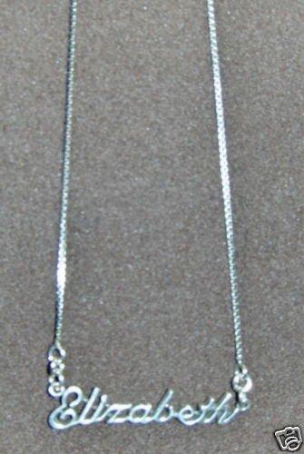 Sterling Silver Name Necklace - Name Plate - ELIZABETH