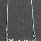 Sterling Silver Name Necklace - Name Plate - CHRISTINE