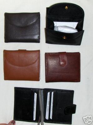 Genuine Leather Men's or Ladies Wallet- #521 BLACK